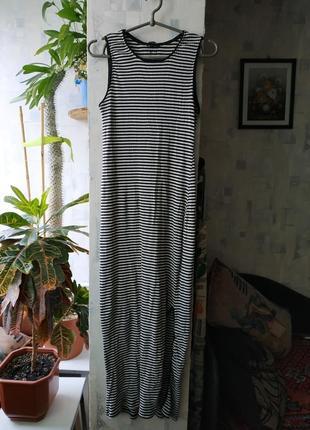 Платье сарафан тельняшка полоска летнее