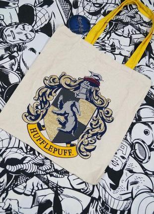 Сумка шоппер с логотипом hufflepuff гарри поттер harry potter