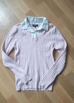 Кофта с воротником пуловер