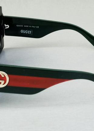 Gucci очки женские солнцезащитные большие квадратные в камнях3 фото