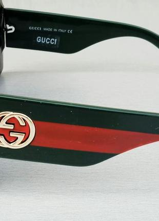 Gucci очки женские солнцезащитные большие квадратные в камнях4 фото