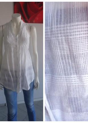Туника рубашка из индийского батиста с прошвой