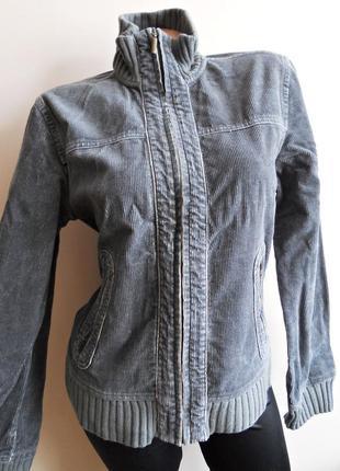 Сіра вельветова куртка бомбер