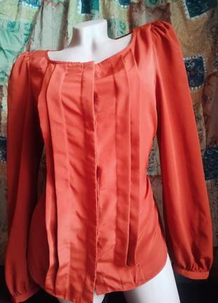 Шикарнейшая блуза очень красивого цвета.