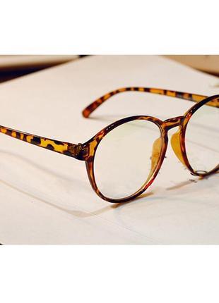 4-62 вінтажні окуляри для іміджу з прозорою лінзою очки для имиджа с прозрачной линзой2 фото