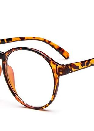 4-62 вінтажні окуляри для іміджу з прозорою лінзою очки для имиджа с прозрачной линзой3 фото