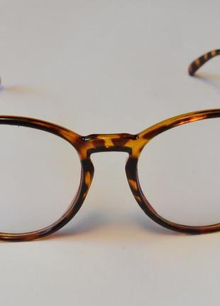 4-62 вінтажні окуляри для іміджу з прозорою лінзою очки для имиджа с прозрачной линзой6 фото