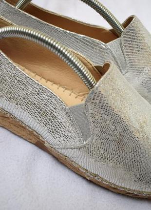 Кожаные туфли криперы мокасины слипоны на широкую эспадрильи