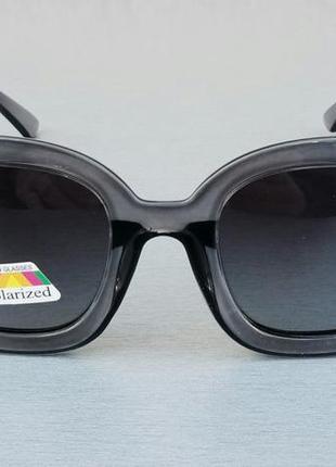 Gucci очки женские солнцезащитные поляризированые в серой прозрачной оправе