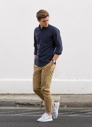 Kiomi (германия) рубашка хенли индиго 100% лен