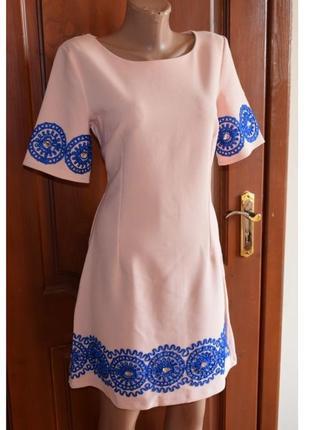 Нежное розовое платье, 46р.