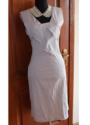 Платье с оригинальным лифом, 48-50р.