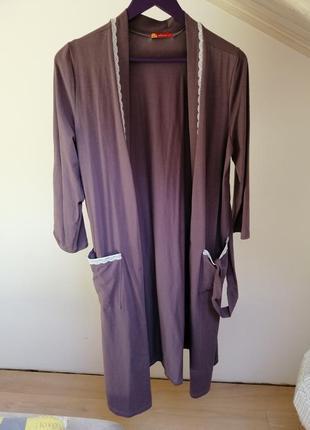 Женственный халат из натуральной ткани