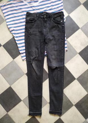 Классные брюки джинсы скинни скини от f&f
