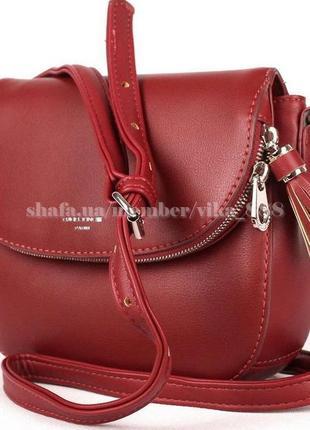 Клатч, сумка через плечо david jones 5824 темно-красный