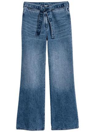 fee199f4b65 Светлые свободные джинсы с высокой посадкой и поясом от h m 27 размера.