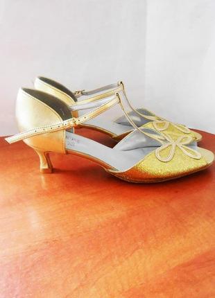 Бальные босоножки для танцев на кожаной подошве / танцевальные туфли freed, р.43 код l4301