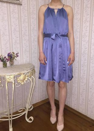 Изысканное платье из тончайшего атласа s-m