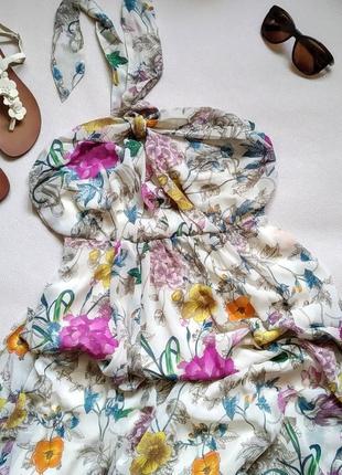 Сарафан платье макси h&m ромпер юбка