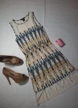 Легенька ніжна сукня з прозорими вставками