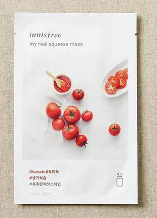 Корейские тканевые маски innisfree my real squeeze mask - tomato