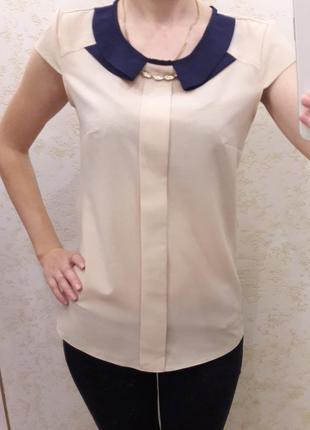 Бежевая легкая блузка noname