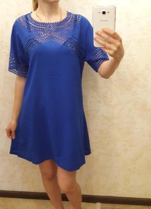 Синее легкое платье noname