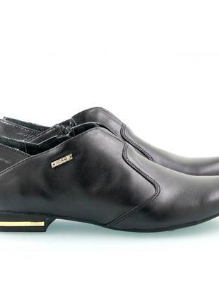 Черные женские туфли из натуральной кожи