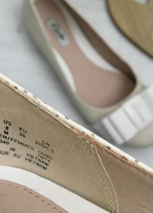 Туфли балетки, натуральная кожа clarks, 39-39,55 фото