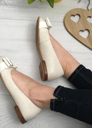 Туфли балетки, натуральная кожа clarks, 39-39,56 фото