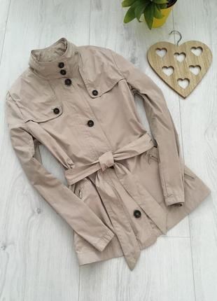 Брендовая куртка ветровка, стильный тренч под пояс, короткий плащ, xl-xxl