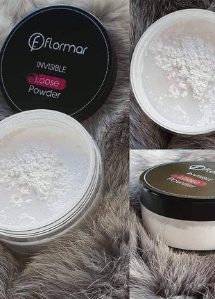 Розсипчаста пудра invisible loose powder, flormar від unice