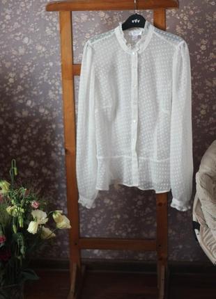 Воздушная блузка в горошек loft