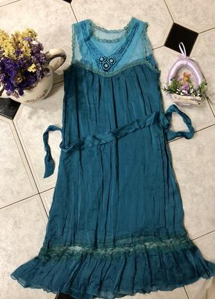 Красивое платье с кружевом  💚