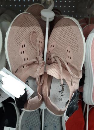 Розовые летние кроссовки в сеточку кеды мокасины3 фото