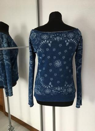 Стильный свитшот под джинс, оголённые плечи, xs-l