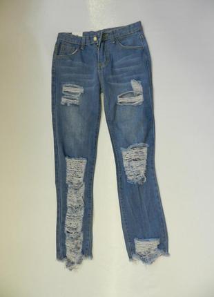 ✅ крутейшие рваные джинсы с необрабоаными краями
