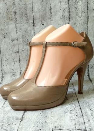 Нарядные туфельки  от фирмы tamaris, 38р, нат.кожа