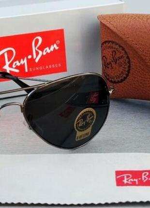Ray ban aviator diamond hard 3026 очки солнцезащитные унисекс капли линзы стекло черные