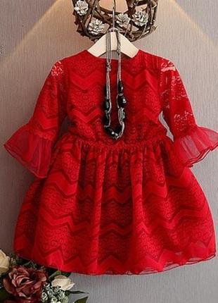 Платье кружевное гипюр клёш нарядное