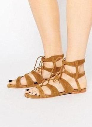 Vero moda дания оригинал натур.кожа! стильные босоножки сандалии гладиаторы 1000пар тут!