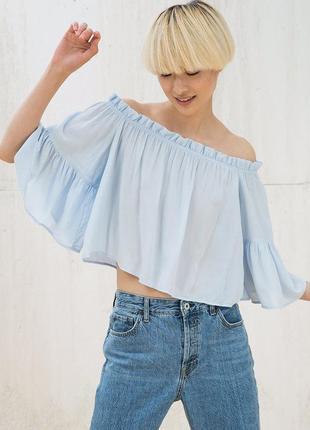 8cac1e842d5 Бирюзовые женские блузы с рюшами 2019 - купить недорого вещи в ...