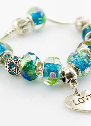 Модные браслеты в стиле пандора pandora. шармы уже включены в цену