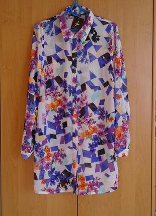 Рубашка-туника atmosphere удлиненная блузка