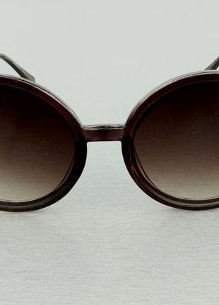 Dolce & gabbana очки женские солнцезащитные круглые коричневые с градиентом