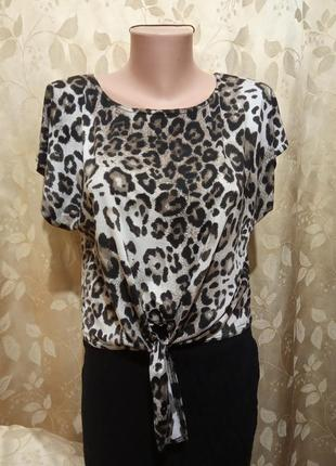 Оригінальна леопардова футболка new look