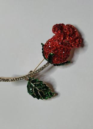 Брошь роза1 фото