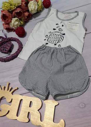 Пижама летняя майка с шортами 3-10 лет