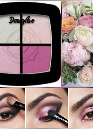 Палетка теней немецкой марки douglas для смоки айс в розовых тонах