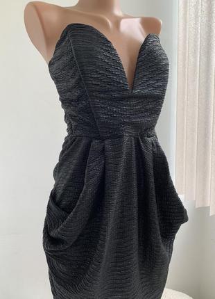 Нереальное вечернее платье корсет бюстье с открытой спиной сша symphony